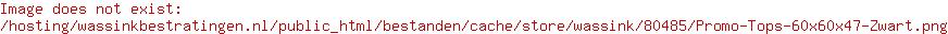 Promo Tops 60x60x4,7 Zwart